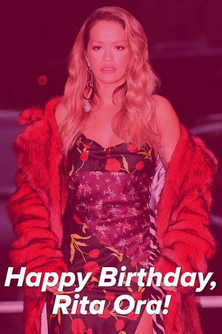 Happy birthday to pop singer and actress Rita Ora who turns 27 years old today.