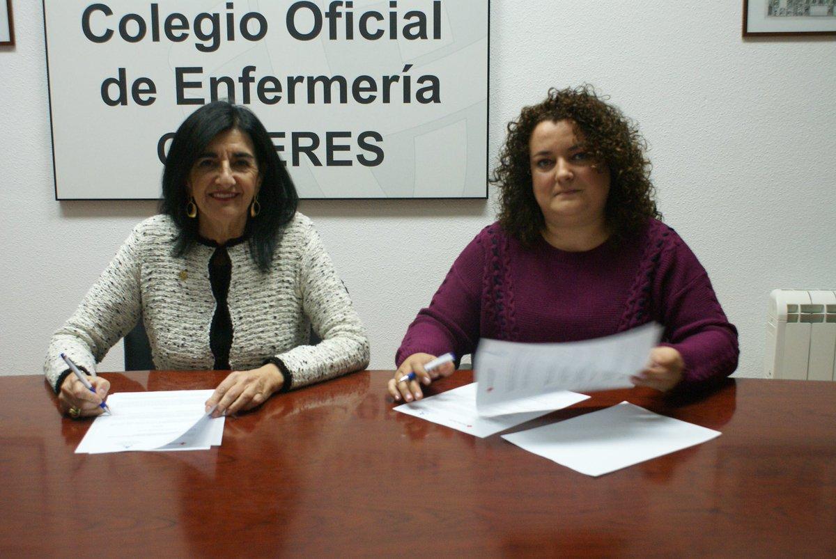 Muy contentos, el Colegio ha firmado un importante acuerdo con @CruzRojaEsp en Cáceres. Más info en  https://t.co/bRJhZRRcrm con @CruzRojaEX