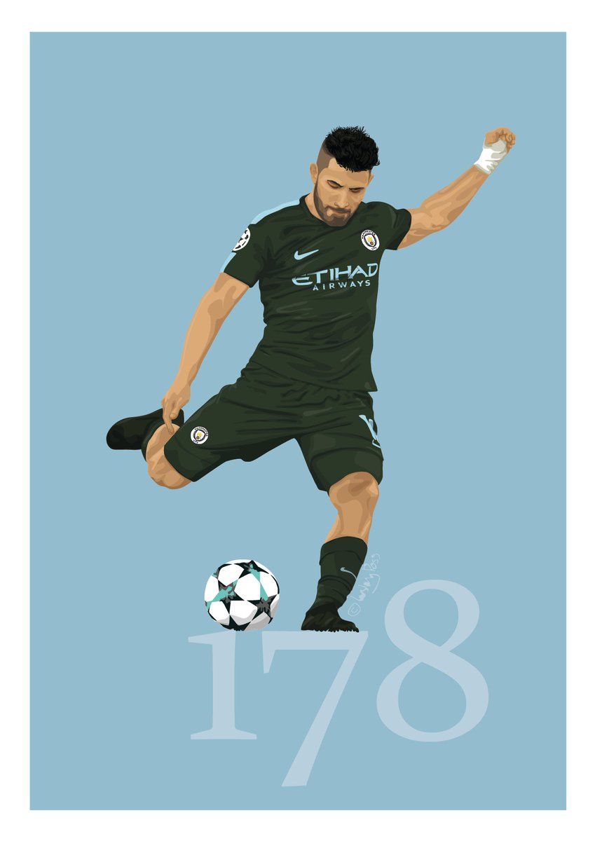 Here is my illustration of the record breaking goal for Sergio Aguero. Hope you like it. :) #ManCity #MCFC