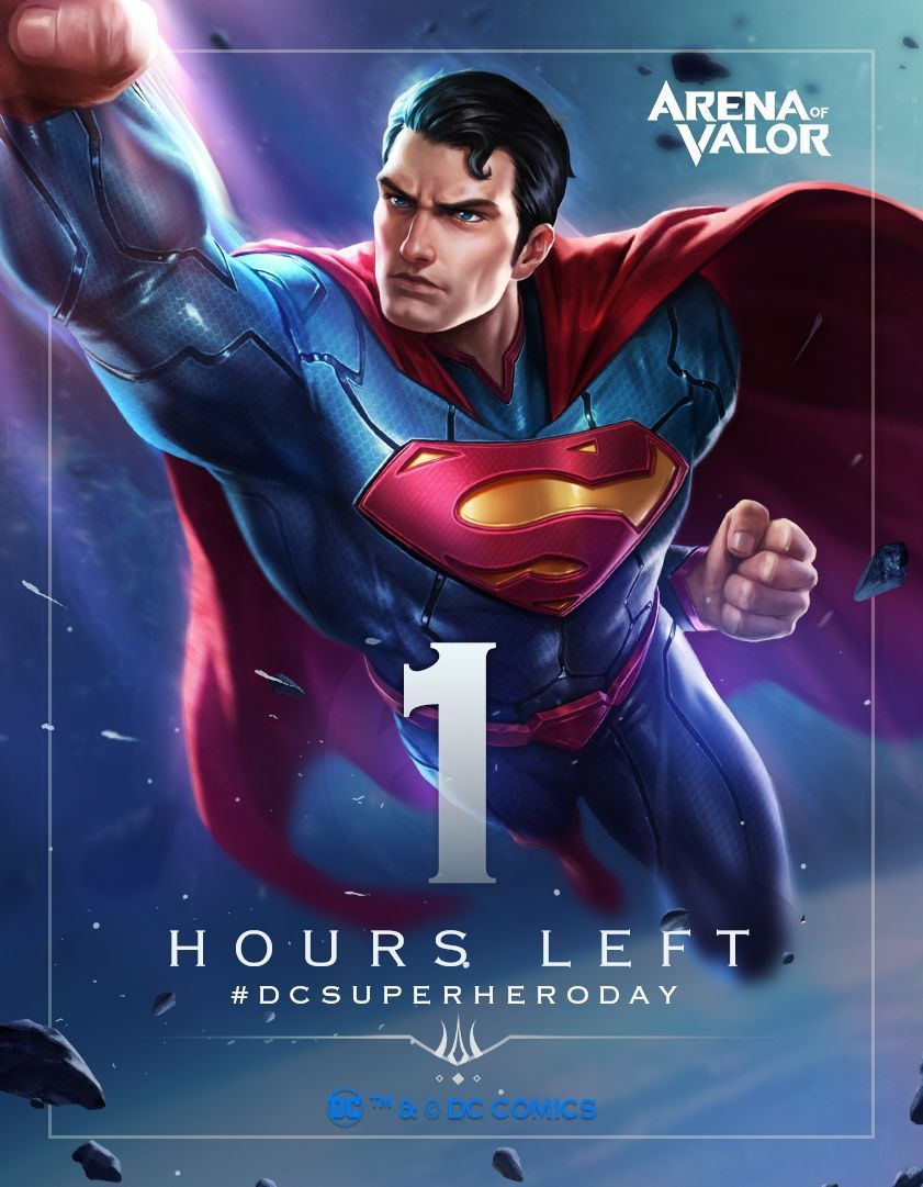 Arena Of Valor On Twitter Superman Has Arrived Only  Hour Left To Claim Superman For Free On The Eu Server Dcsuperheroday Arenaofvalor Aov