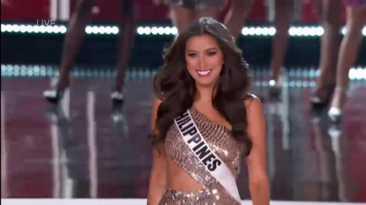 Watch as #Philippines bet Rachel Peters struts down the #MissUniverse runway.