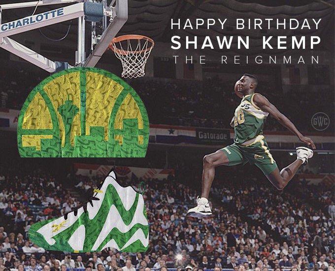 Happy birthday to THE REIGNMAN, Shawn Kemp (