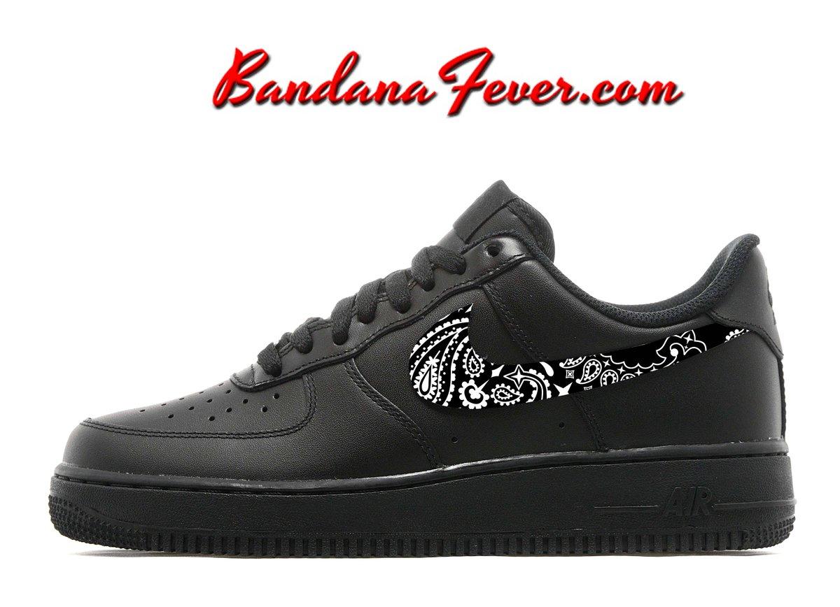 hot sales b0682 90eb7 Bandana Fever - - Bandana Fever Custom Bandana Nike Cortez Leather Black  White Pink Bandana REALG Cortez customnikeshoes hashtag on Twitter ...