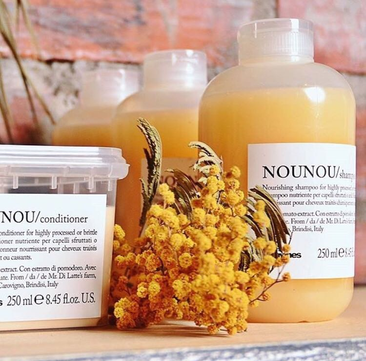 NOUNOU: nou•nou essential hair-care family Ideal for treated & bleached hair 🍅 #Davines #SustainableBeauty https://t.co/nKbpTHa7rM