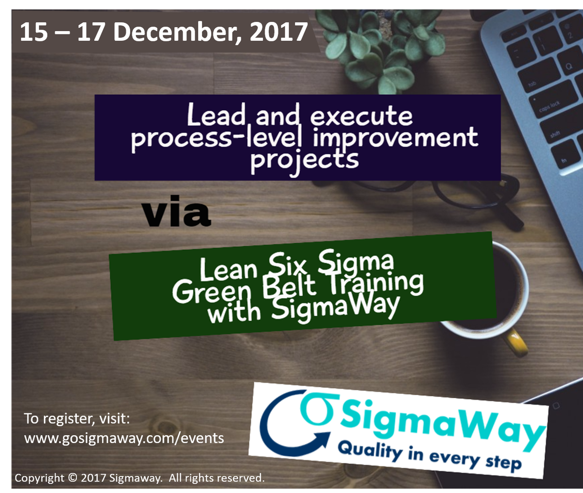 Sigmaway llc sigmawayllc twitter for details httpgosigmawayeventslean six sigma training43 green belt training delhi india 15 december 17 december 2017ml picitter xflitez Gallery
