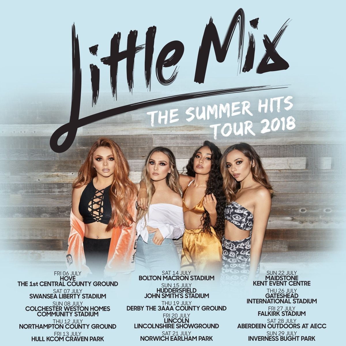 The #GloryDaysTour might be over but we're SO excited to announce that the Little Mix Summer Hits Tour 2018 is COMINGGG to the UK! Tickets are out THIS Thursday at 9:30AM GMT, so get ready...get set... 👀 X the girls