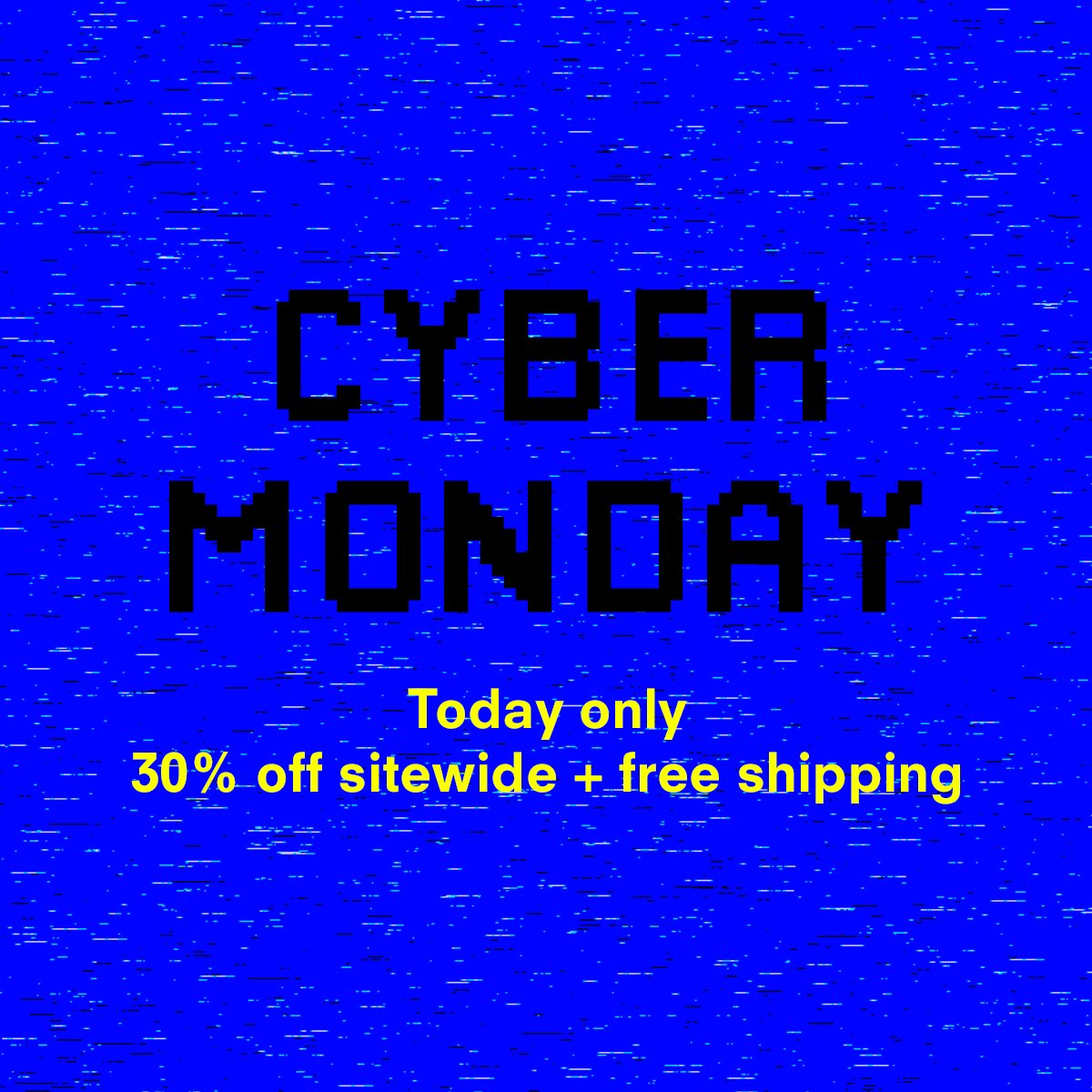 Cyber Monday! Today only, enjoy 30% off sitewide and free delivery #radshop #CyberMonday https://t.co/4f1iO0y2ly https://t.co/LyVM1Cw1ls