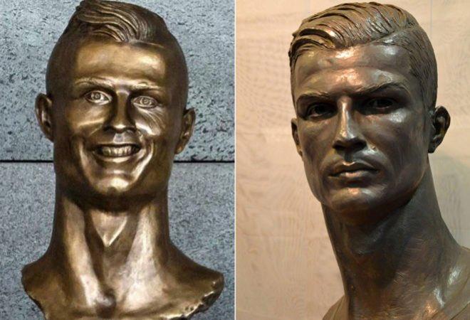 Cristiano Ronaldo a enfin une statue qui lui ressemble vraiment