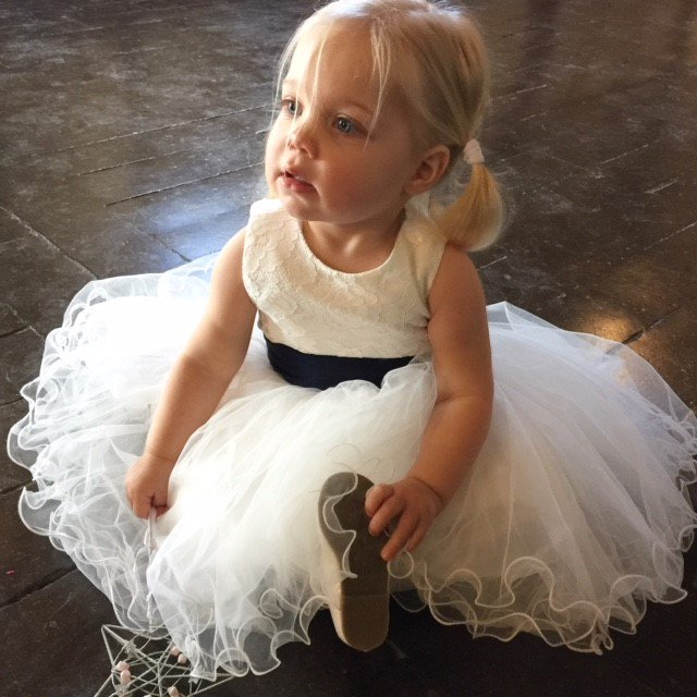 What a little cutie! Flower girl at Saturday's #wedding #loseley - she loved her #sparkly #shoes!