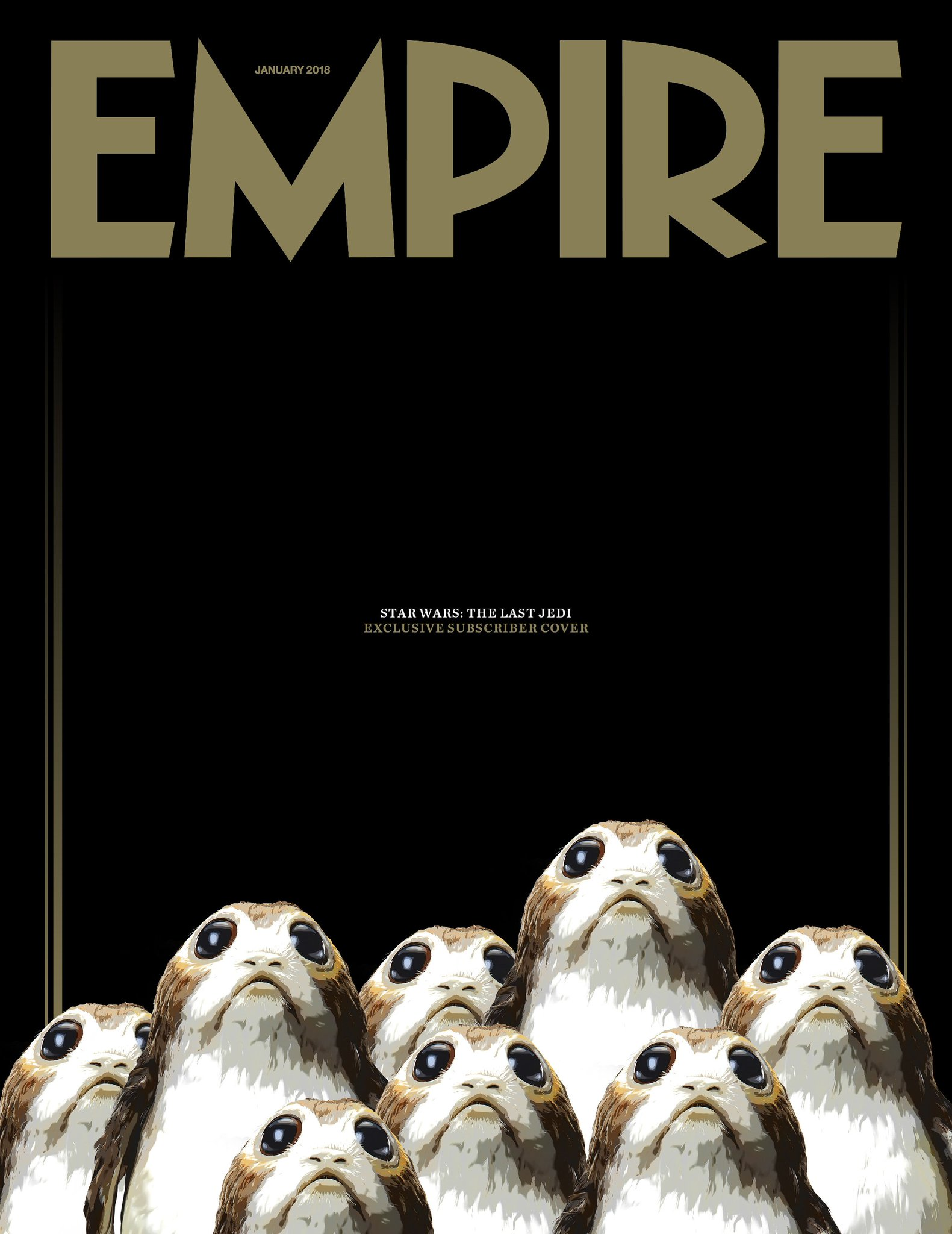 Porgs op Empire cover voor Star Wars VIII: The Last Jedi