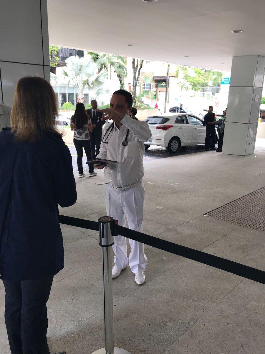 O cardiologista Roberto Kalil Filho, médico particular do presidente, confirma alta de Michel Temer para 10h.   A informação inicial é que ele segue para o Aeroporto de Congonhas de helicóptero e, na sequência, embarca para Brasília onde deve retomar agenda normalmente.