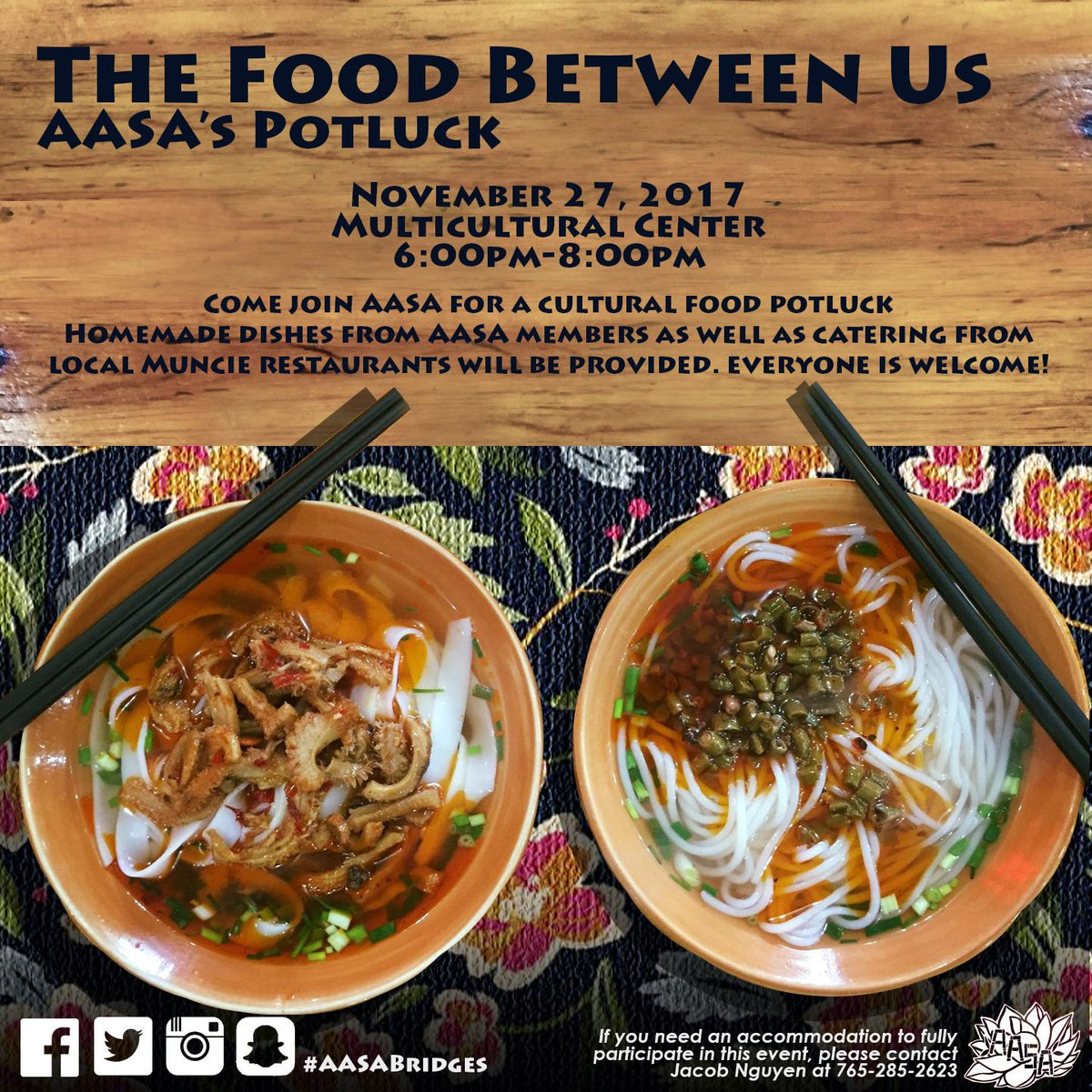 Ball State Aasa On Twitter Come Join Aasa For A Cultural Food