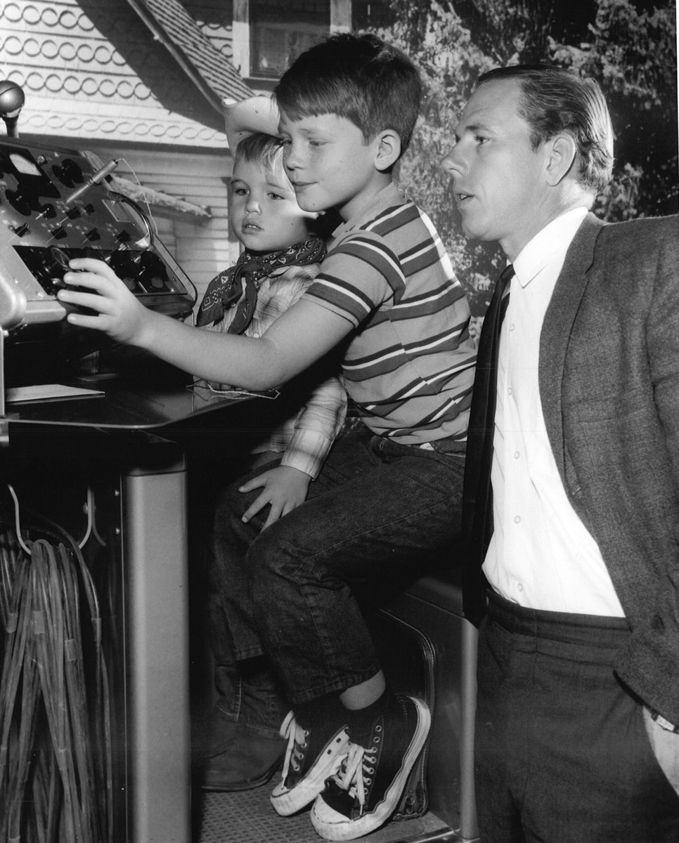 A great picture a friend shared with us. Brother Clint, me and our Dad Rance Howard on the set of #TheAndyGriffithShow