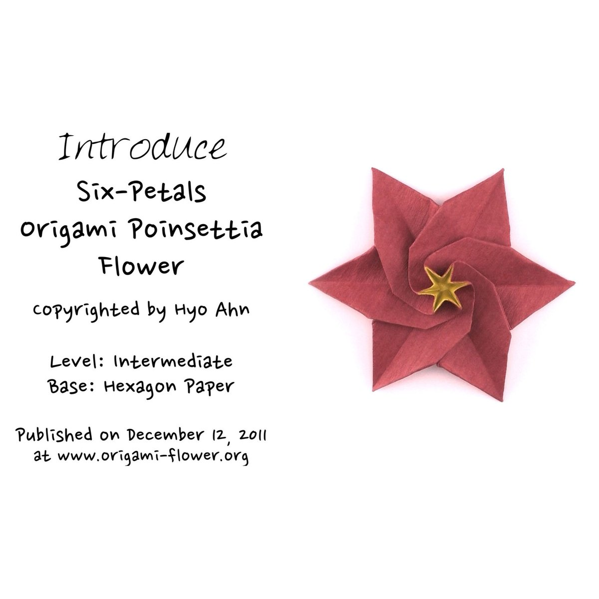 Hyo Ahn On Twitter Introducing A Six Petals Origami Poinsettia