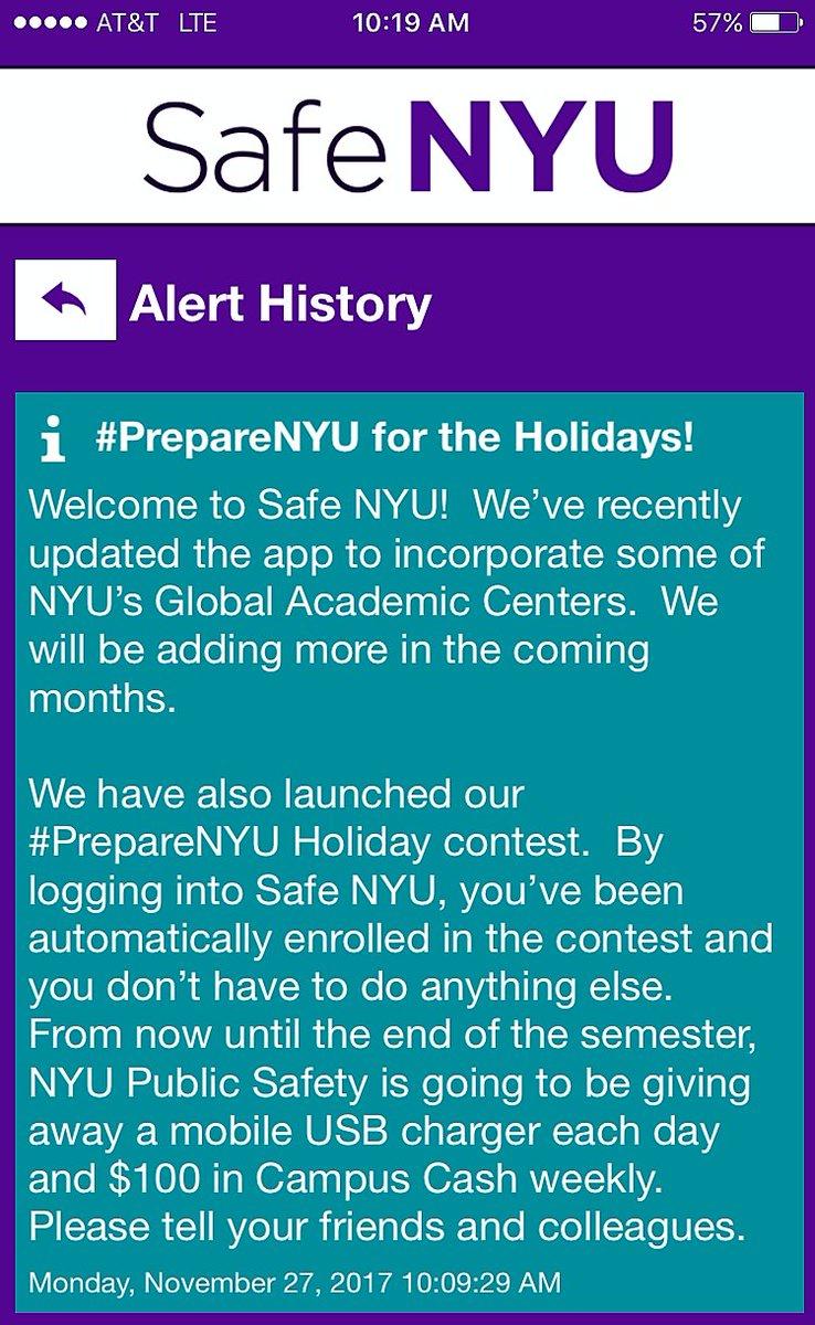 NYU Public Safety on Twitter: