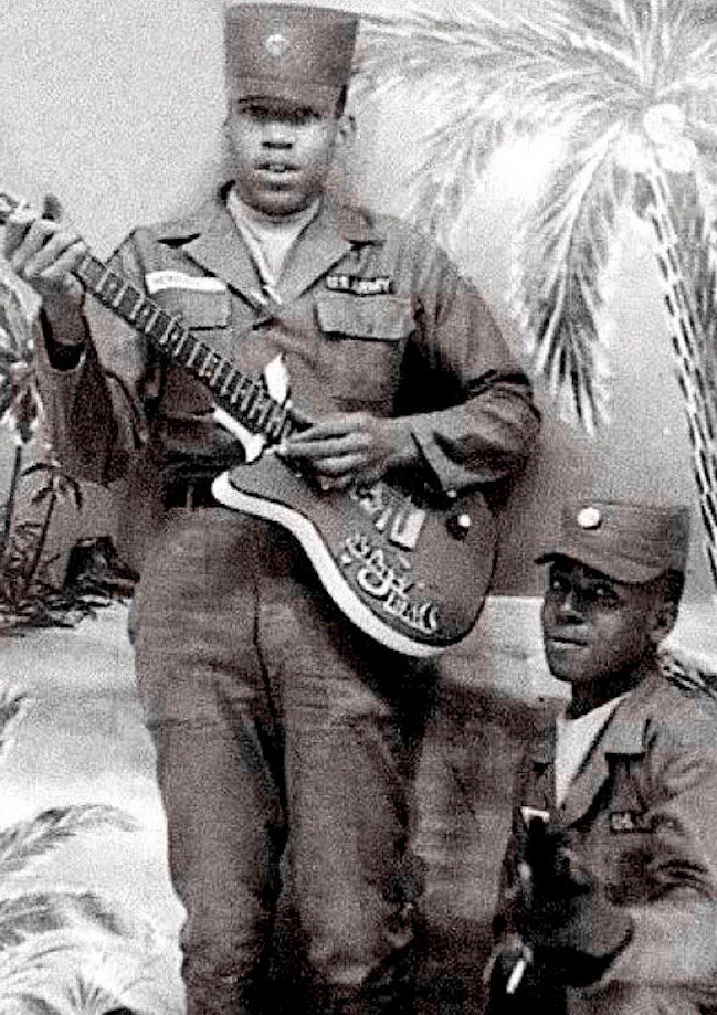 Jimi Hendrix born 75 years ago today—here in U.S. Army, 1961-1962: