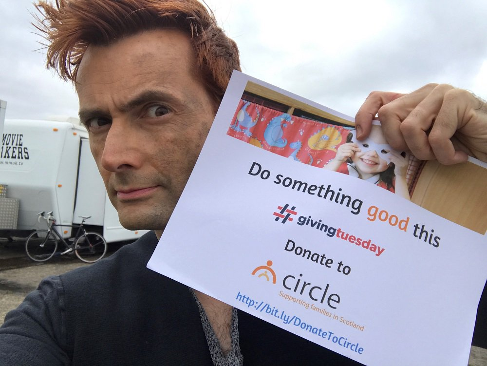 David Tennant supporting Circle Scotland in advance of Giving Tuesday tomorrow