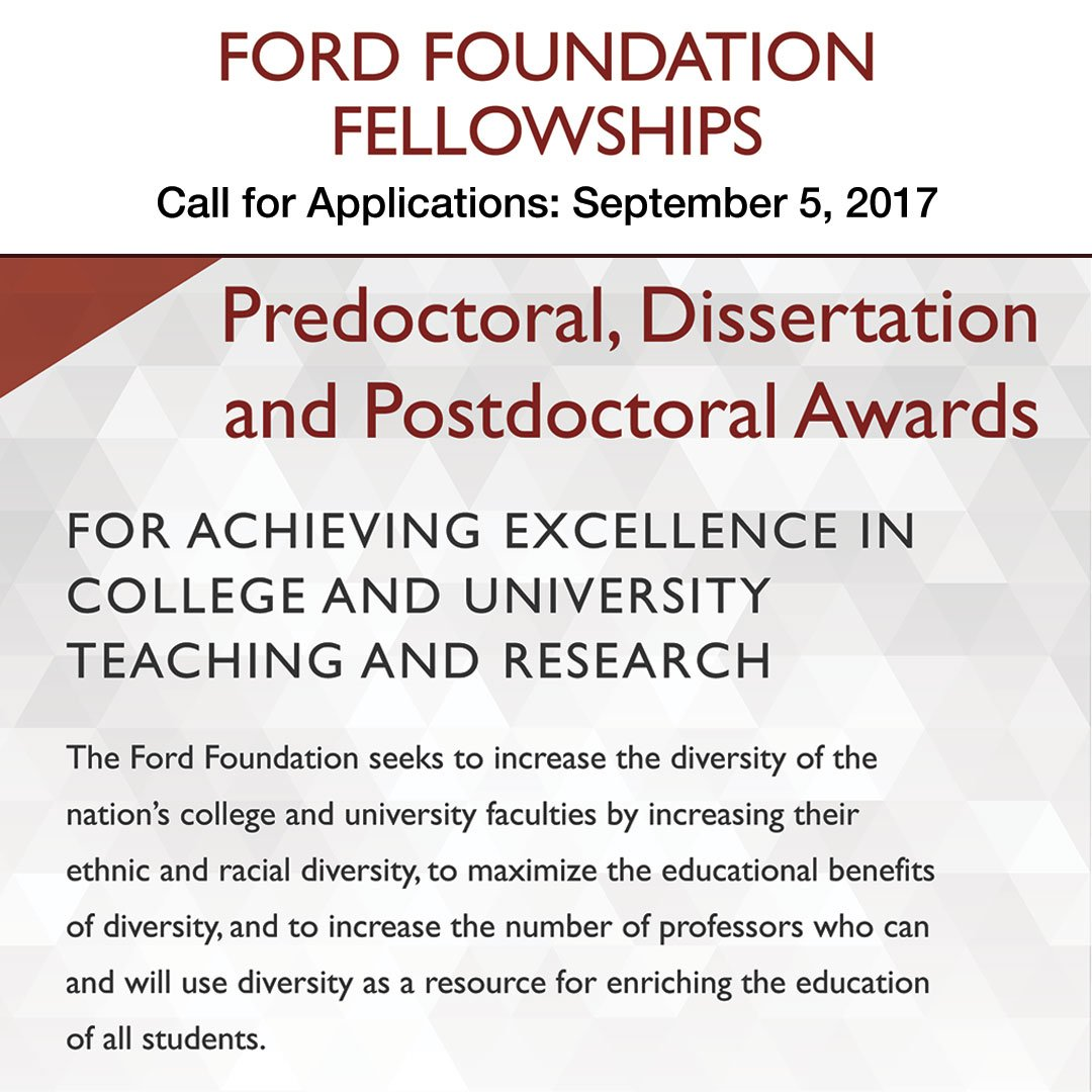 ford foundation predoctoral and dissertation fellowships for minorities