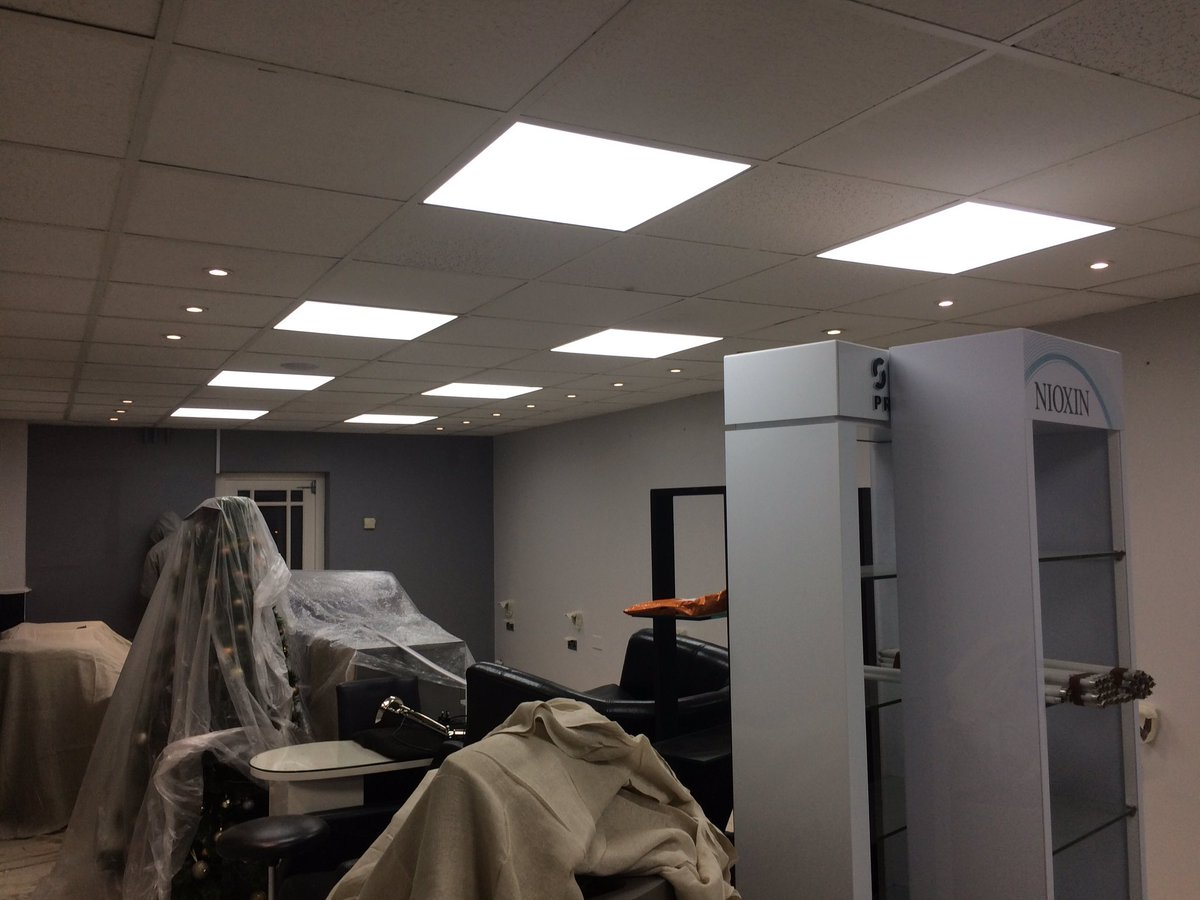 james robinson on twitter led lighting upgrade today at clients
