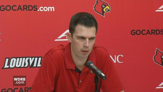 RAW VIDEO | U of L's David Padgett speaks about Cards' upcoming game against Purdue. https://t.co/lHUXLNsP6n