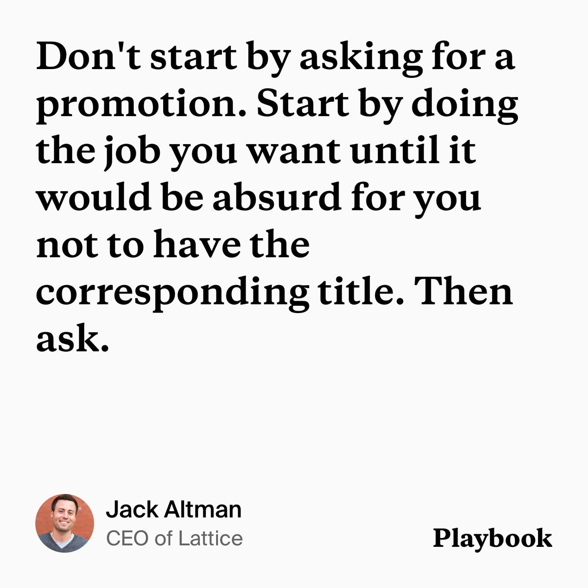 playbook on twitter thinking about asking for a promotion some actionable advice from jaltma httpstcozfie0tcpuf