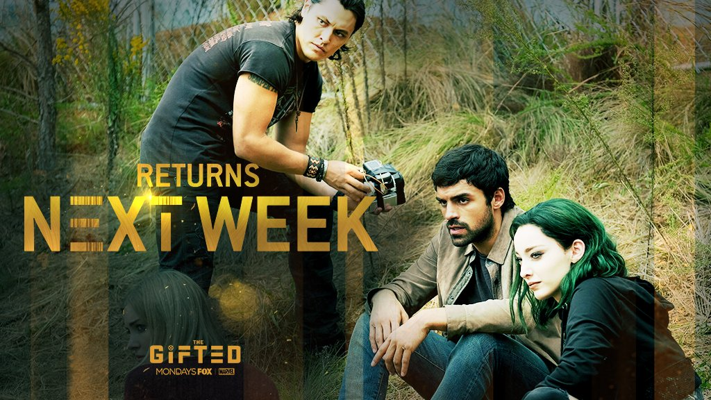 Hold on just a little bit longer. #TheGifted is back with a new episode in ONE WEEK✖️