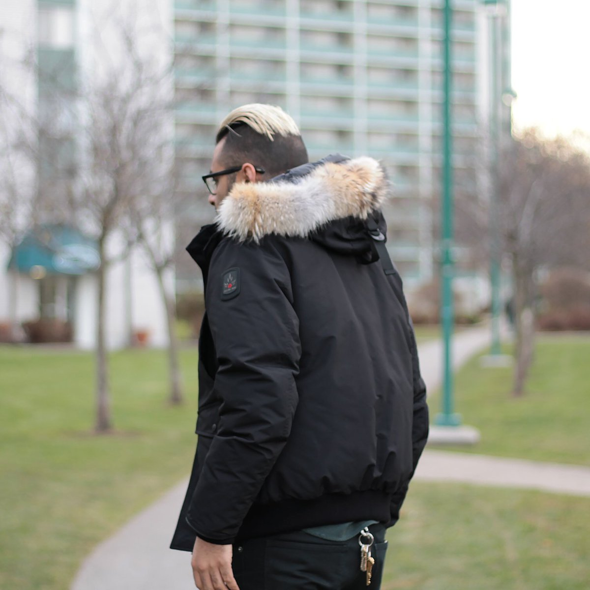 3c004af8c9e The updated Inuvik Bomber from Toronto s Arctic Bay features additional  welt hand warmer pockets on the flap pockets.  arcticbay  madeinCanada   MuddyGeorge ...