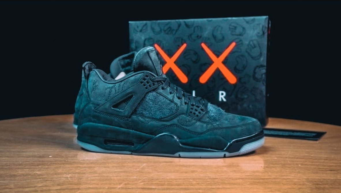bd1e23866bfbda the black kaws x air jordan 4 lottery has a special stipulation for  resellers