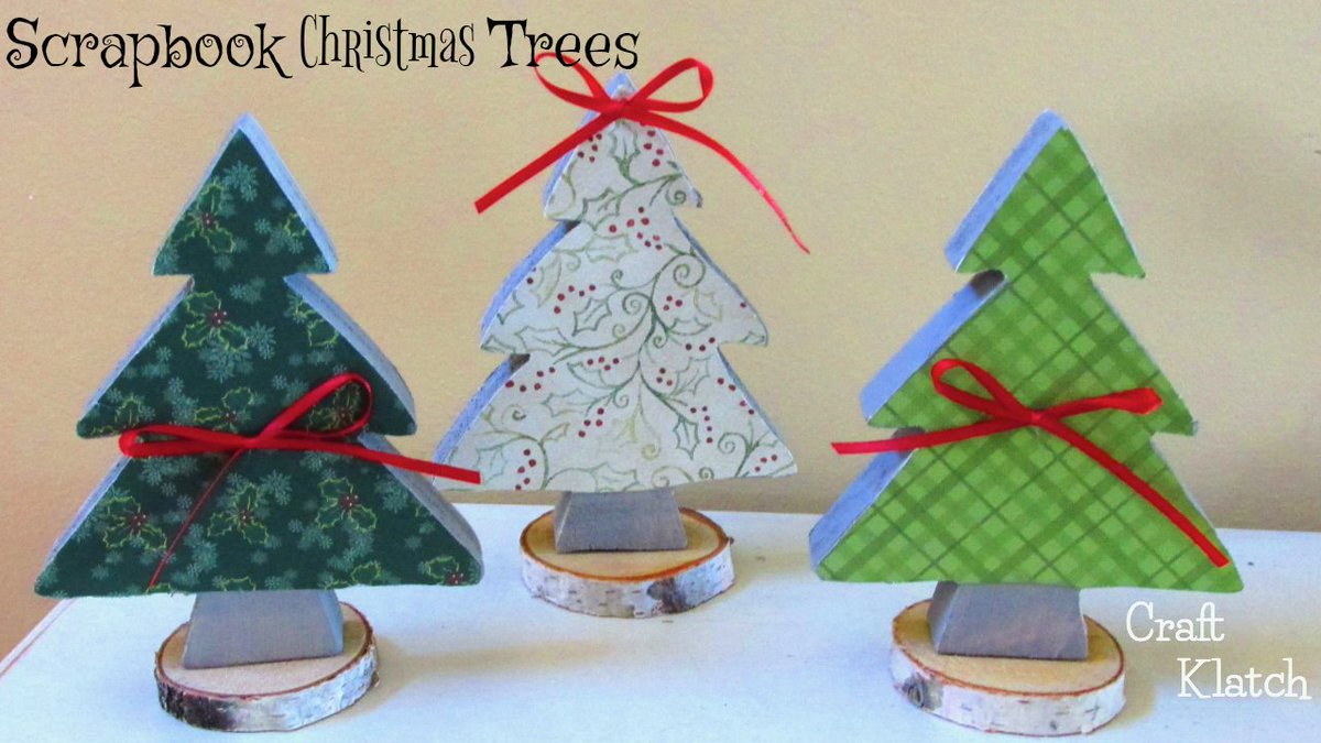 Michaels Christmas Crafts.Craft Klatch On Twitter Diy Scrapbook Paper Christmas Tree