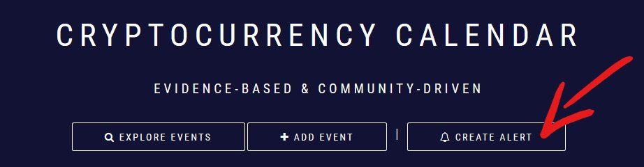 cryptocurrency calendar events