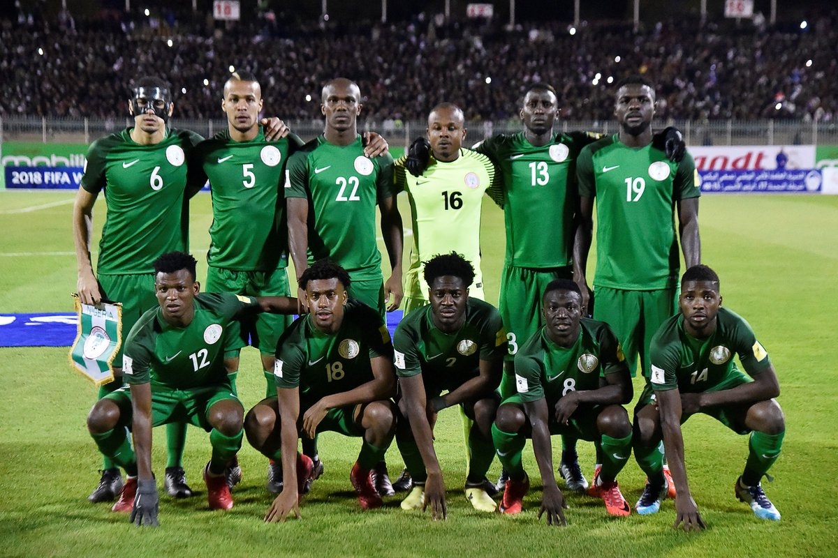According to statistics released on Monday, Nigeria has the youngest players among the 32 countries that qualified for the 2018 World Cup coming up in Russia.