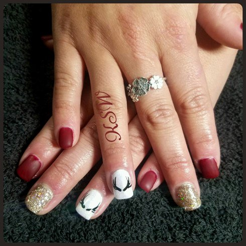 Nail Art Gallery On Twitter Deer Antlers Httpst6eo15sgiey