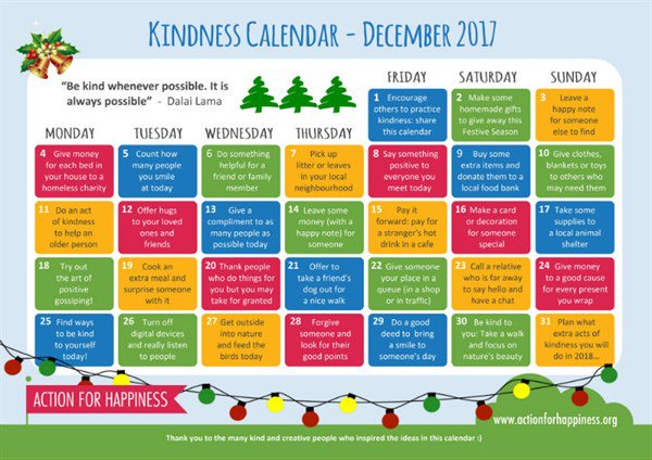 Greater good on twitter make december kind w this calendar from greater good on twitter make december kind w this calendar from actionhappiness httpstkilpchcapt solutioingenieria Image collections