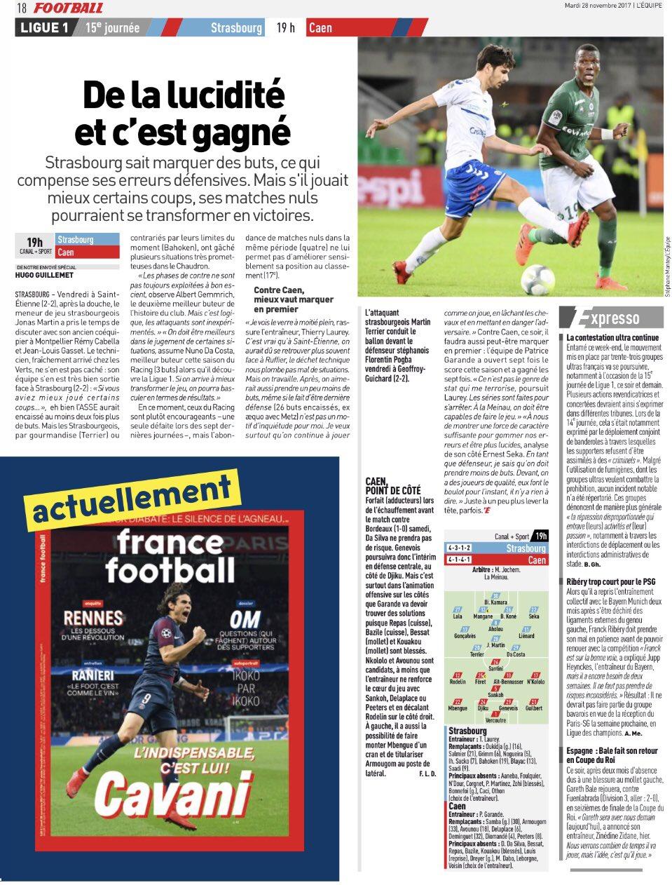 [15e journée de L1] RC Strasbourg 0-0 SM Caen DPrLeKJW4AALzq3