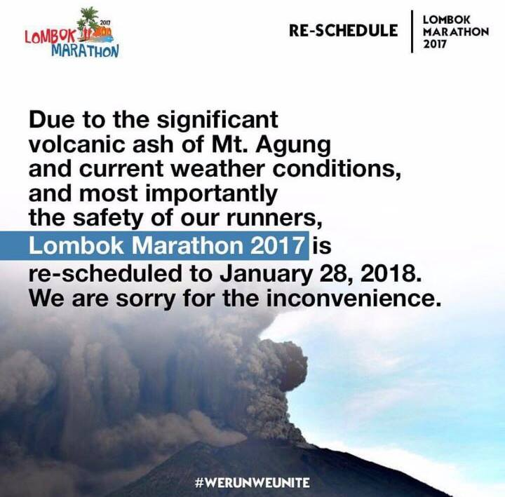 re-scheduled Lombok Marathon • 2017