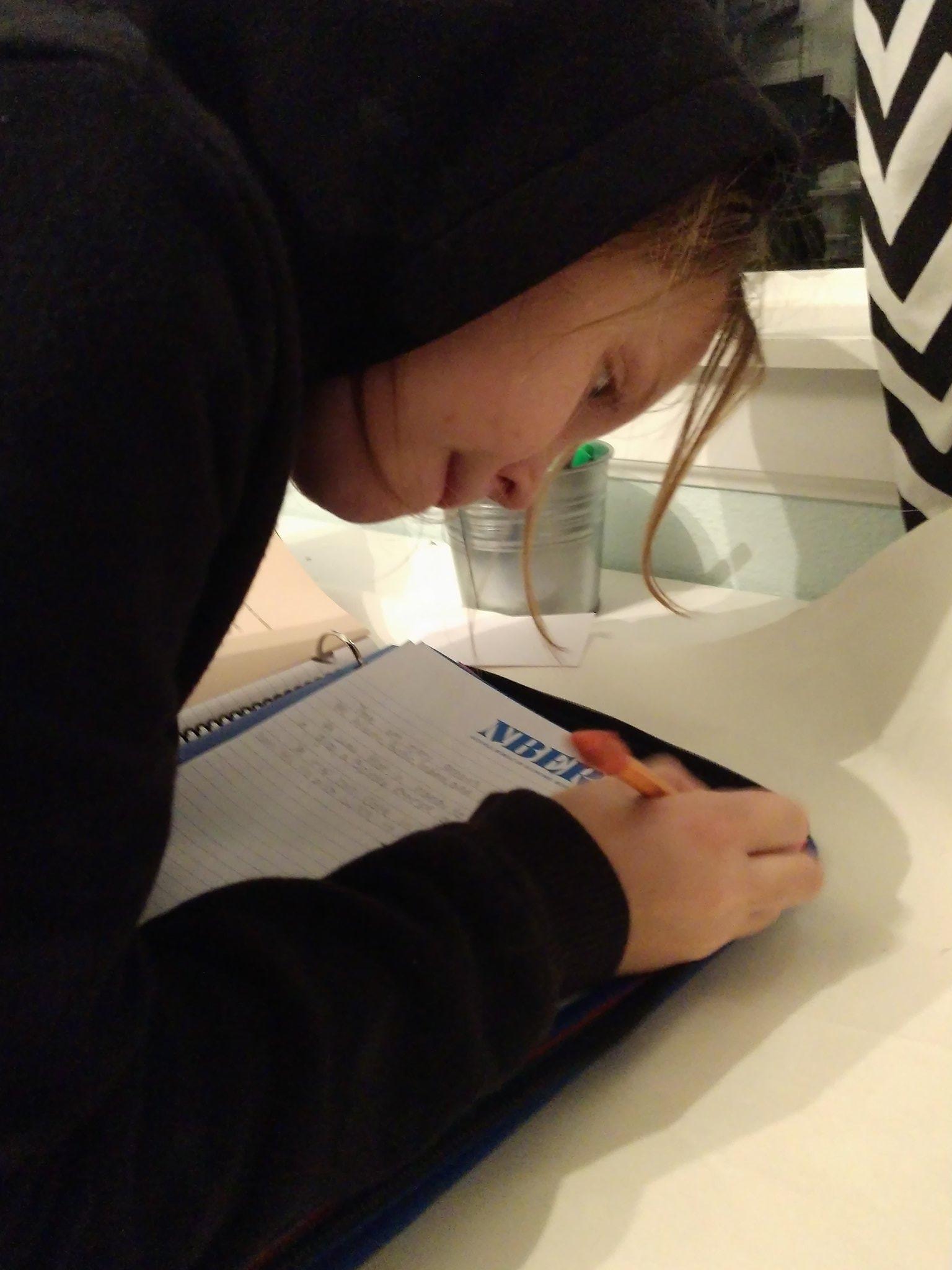 She needed lined paper for her homework . ..@nberpubs https://t.co/OsZqBlxnpm