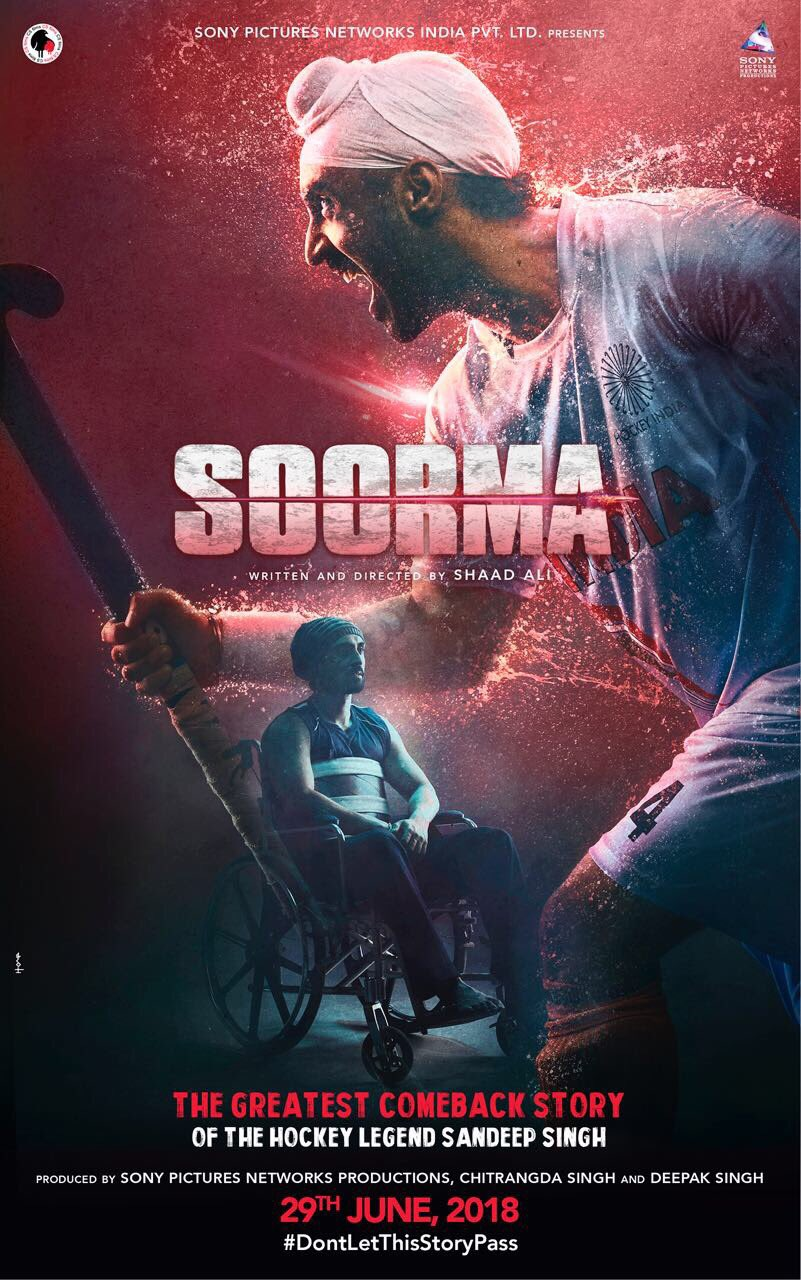 Soorma (2018) 700MB DVDScr Hindi Movie 720p ESubs