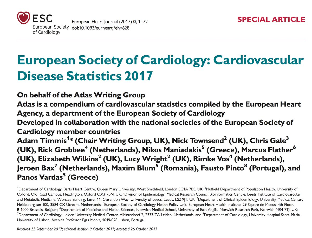 European Society of Cardiology Journals on Twitter: