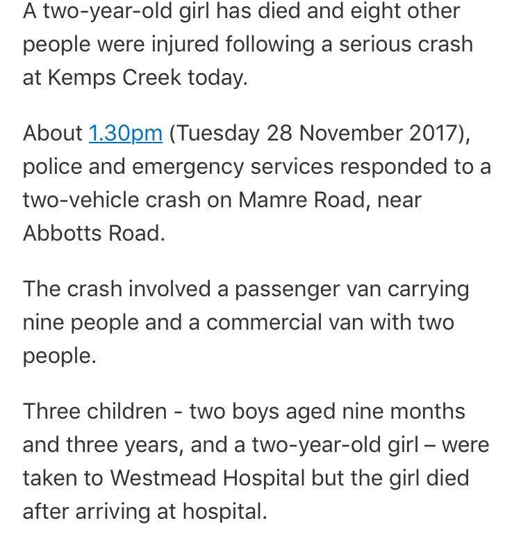 Sad news tonight - a 2 year old girl has...