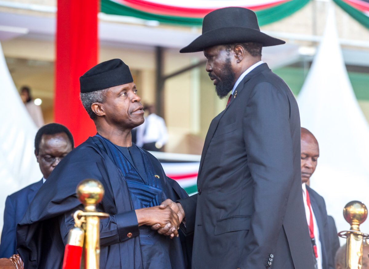 VP Osinbajo in Kenya for the 2nd Term Inauguration ceremony for President Uhuru Kenyatta [PHOTOS]