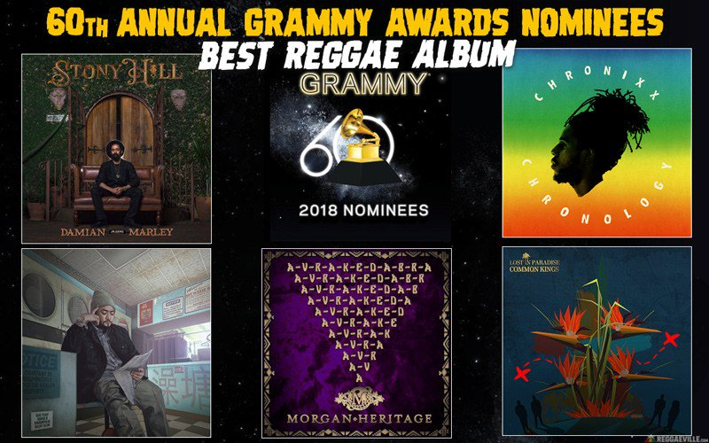 Here are the nominees for Best Reggae Album