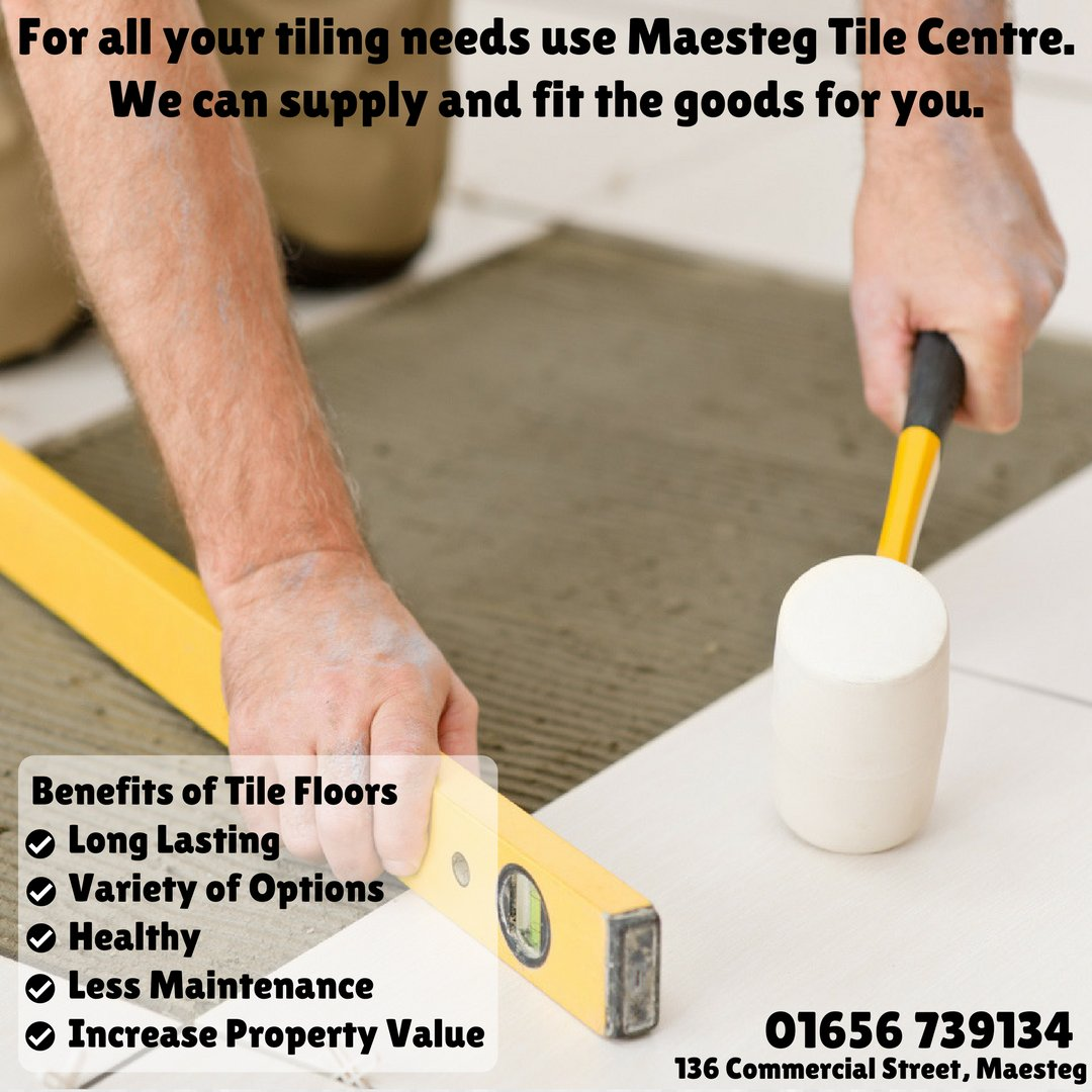 Maesteg tile centre mstgtilecentre twitter do you know the benefits of installing tile floors in your home for all your tiling needs use maesteg tile centre we can supply and fit the goods for you dailygadgetfo Images