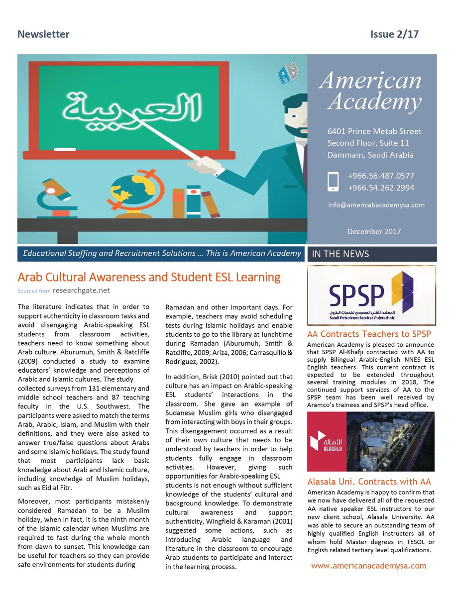 American Academy Saudi Arabia (@americademySA)   Twitter