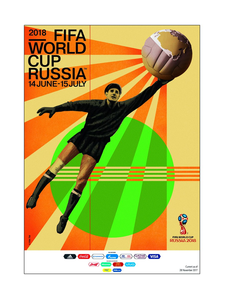 The Official Poster for the FIFA World Cup was launched in Moscow