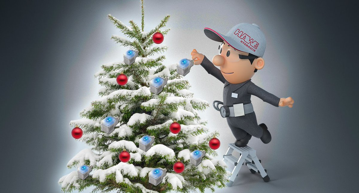 hawe hydraulik on twitter hawe henry is happy cybermonday is over because its time to dig out his christmas decorations christmastree