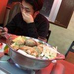 夜シルクと両国でちゃんこ鍋食べた!めちゃめちゃ美味かった∑(゚Д゚)!ごっつぁんでした🤲#力士じゃね…