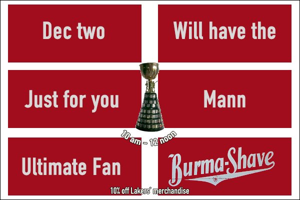 63593fc4ee6 ... Ultimate Fan in Lansdowne Place this Saturday from 10 a.m. to 2 p.m! Get  your photo with the Cup while enjoying 10% off all Lakers' merchandise!