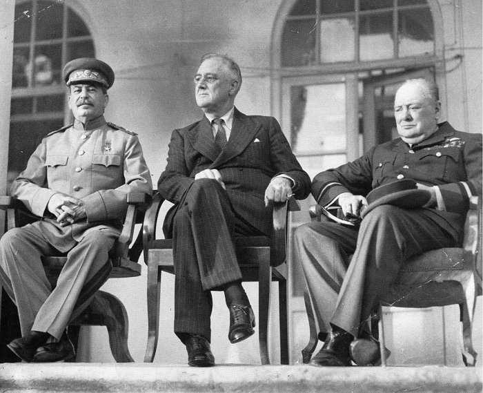 HISTORY: On this day in 1943, a meeting was held in Tehran between Joseph Stalin, Franklin D. Roosevelt and Winston Churchill to discuss strategy for World War II.