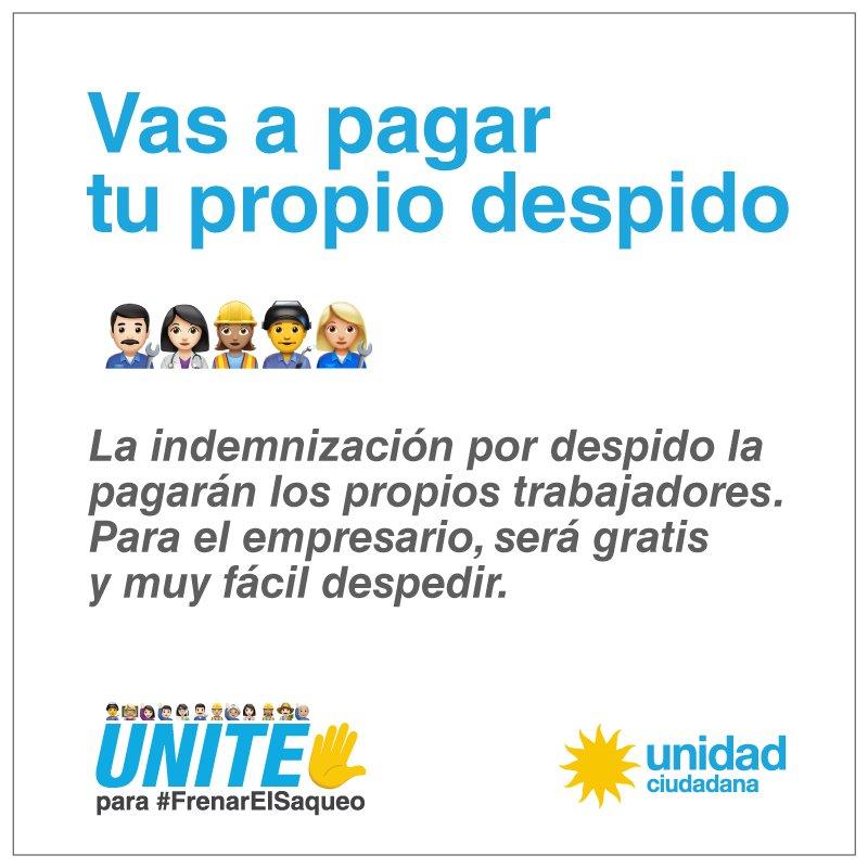 Vas a pagar tu propio despido.  UNITE para #FrenarElSaqueo ✋ https://t.co/F3Ety8a4Gx https://t.co/gqM0pC6MRe