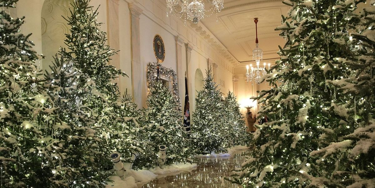Melania trump just unveiled the 2017 white house christmas decorations https t co f8ogducdjv